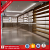Custom retail wooden flooring department shoes store display rack
