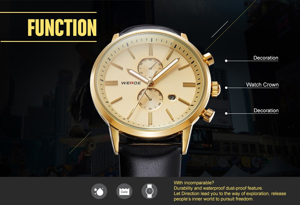 Japan Movement Quartz Gold Plated Luxury Watch Dropshipping