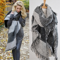Fashion Top Blanket Scarf Female Cashmere Pashmina & Wool Scarf Shawl 2016 New Winter Warm Scarves Cape