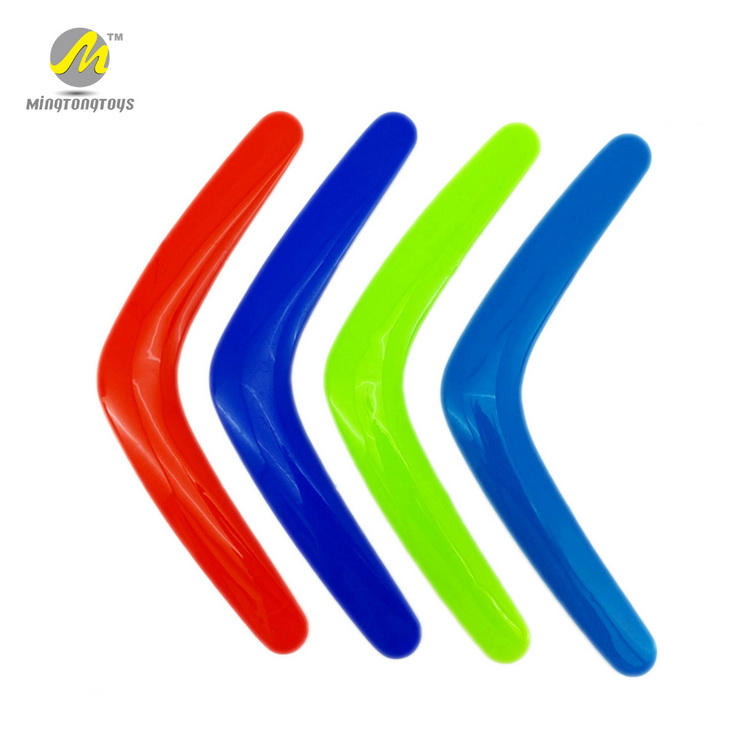 OEM custom logo 29cm outdoor plastic boomerang toy