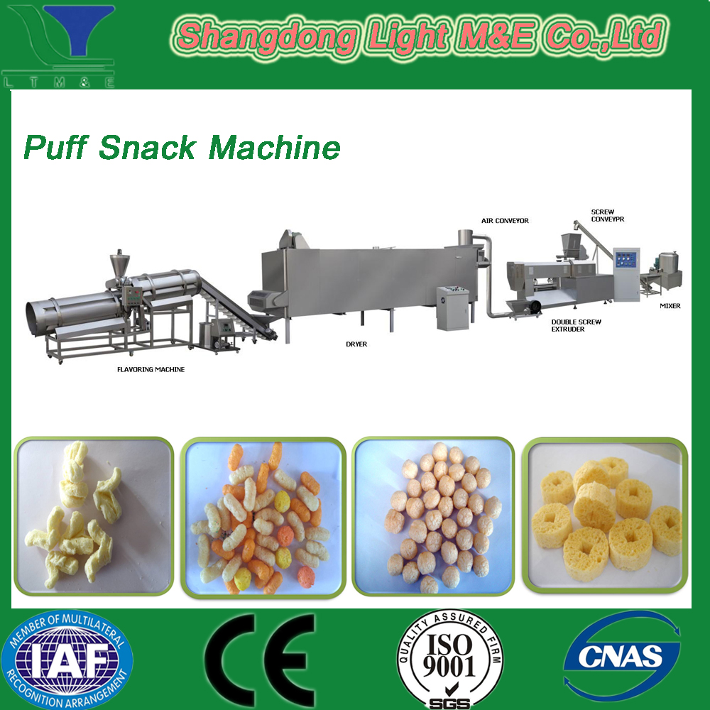 Automatic Twin Screw Puffed Corn Snacks Food Machine