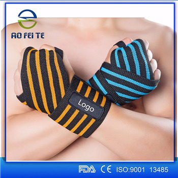 Promotional items for 2017 elastic adjustable weight lifting colorful wrist brace