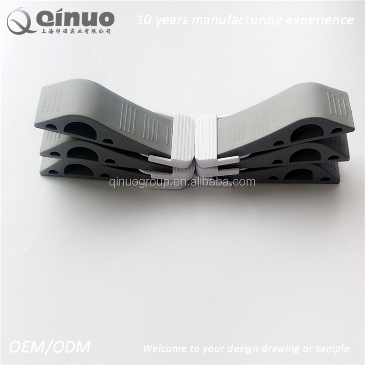high quality gray heavy duty rubber door wedge