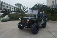 China CE 4X4 150cc 200cc mini jeep willys for sale