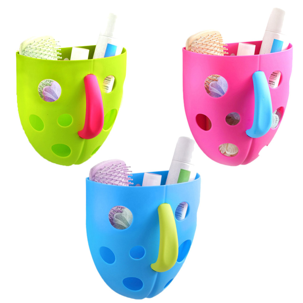 Funny Hanging Scoop Storage Bin Toddler Baby Bath Toy Organizer for Kids