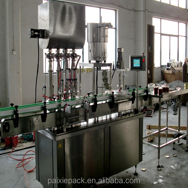 china supplier jam filling machine, new technology glass jar paste filling machine, shanghai factory ketchup filling machine