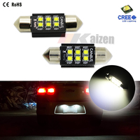 "Xenon White 6-CRE E 1.50"" 36mm 6418 C5W CANbus LED Bulbs, Error Free For Audi BMW Mercedes Porsche VW License Plate Lights"
