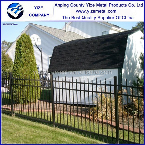 White Galvanized Models Wrought Iron Fence Used/Ornamental wrought iron fence