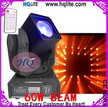 Mini Housing led 60w beam Cheap moving head beam wash stage lighting