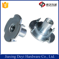 Hot Sale Furniture Hardware Agnail 5/16 Stainless Steel 4 Prongs T-nut