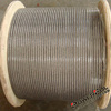 4mm Thin and Strong Non Rotating SS Wire Rope with Galvanized Connectors for lube