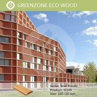 Greenzone Recycled material wall wood composite wpc exterior cladding