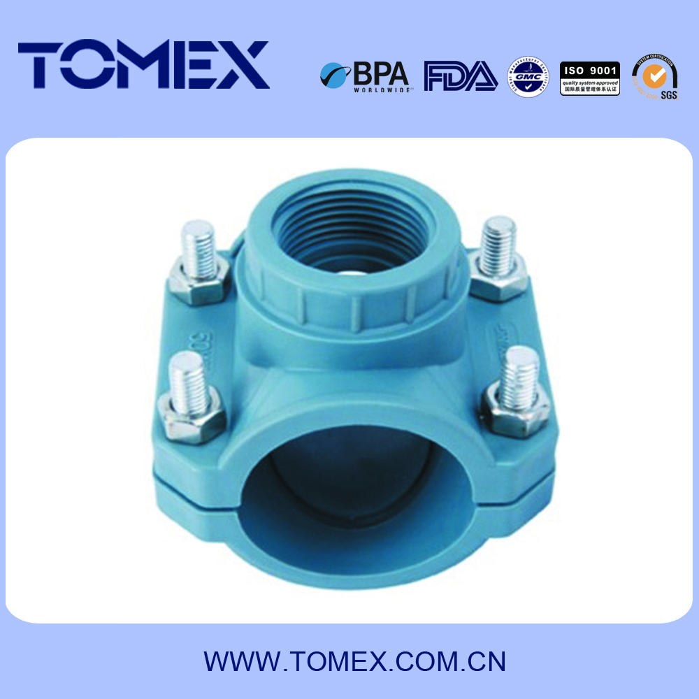 Plastic PVC Pipe Saddle Clamp for Irrigation PN10