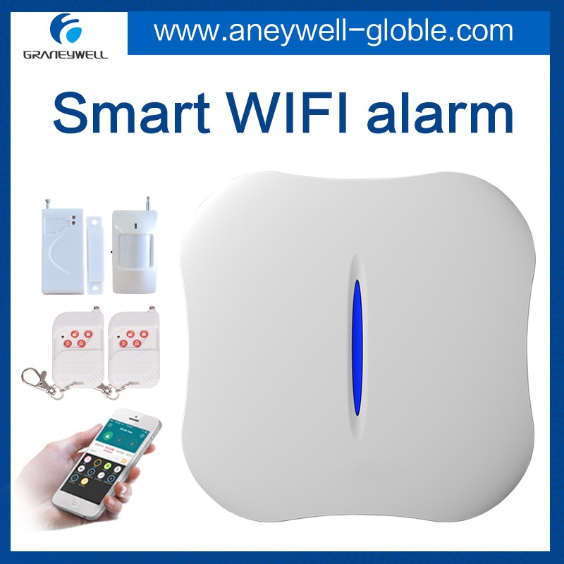 Wireless network wifi mobile remote infrared alarm burglar alarm home security systems store