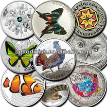 2014new design and high quality Printing silicone wholesale animal silicone coin