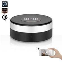 Rotation 160 degree lens wide angle wireless quick phone charger wifi ip spy camera 24 hours recording