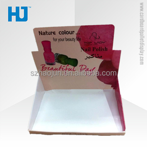Colorful Paper Cardboard Nail Polish Display Box for Promotion in China