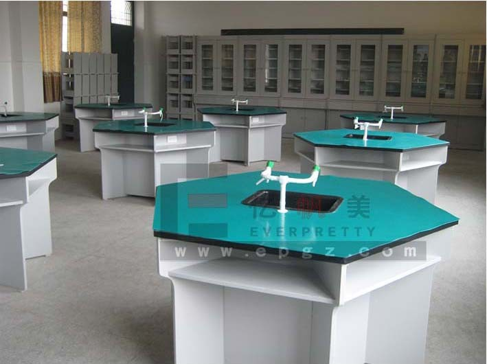 Guangzhou Lab Furniture Factory Laboratory Equipment For Sale Chemistry Table with Hang Cabinet