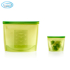 Heat resistant microwave use safe silicone food storage container
