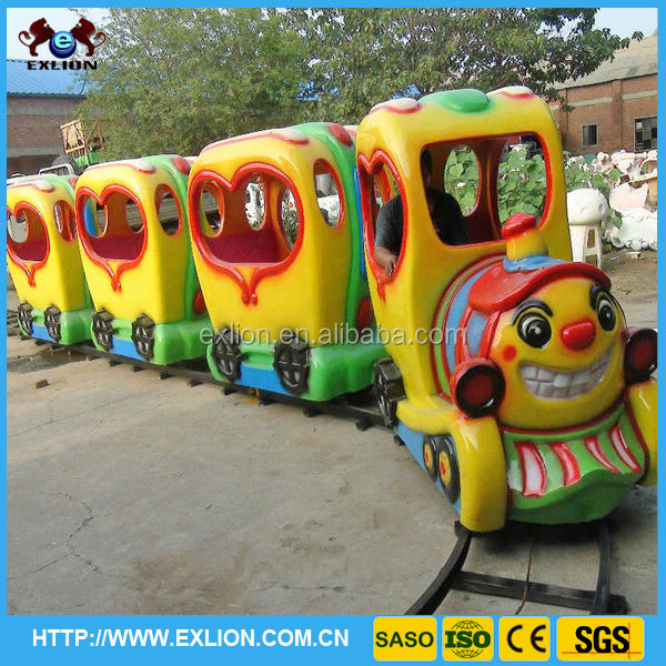 Lower price amusement ride on train track for kids for sale