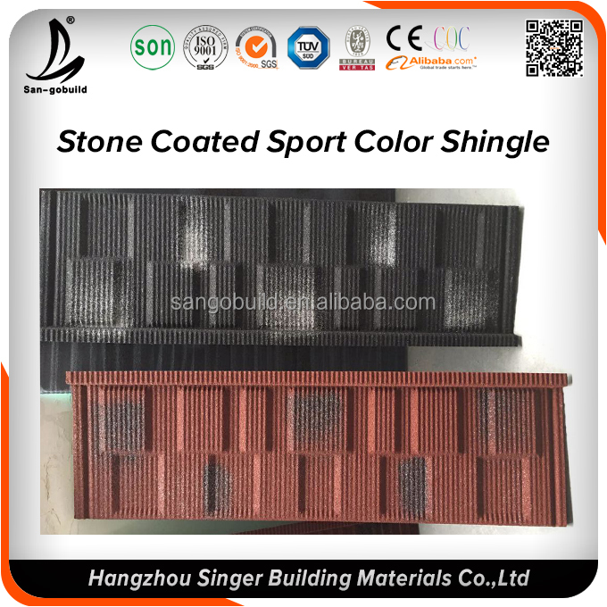 Concrete roofing sheet price, rock chips coated aluminum zinc roofing sheet