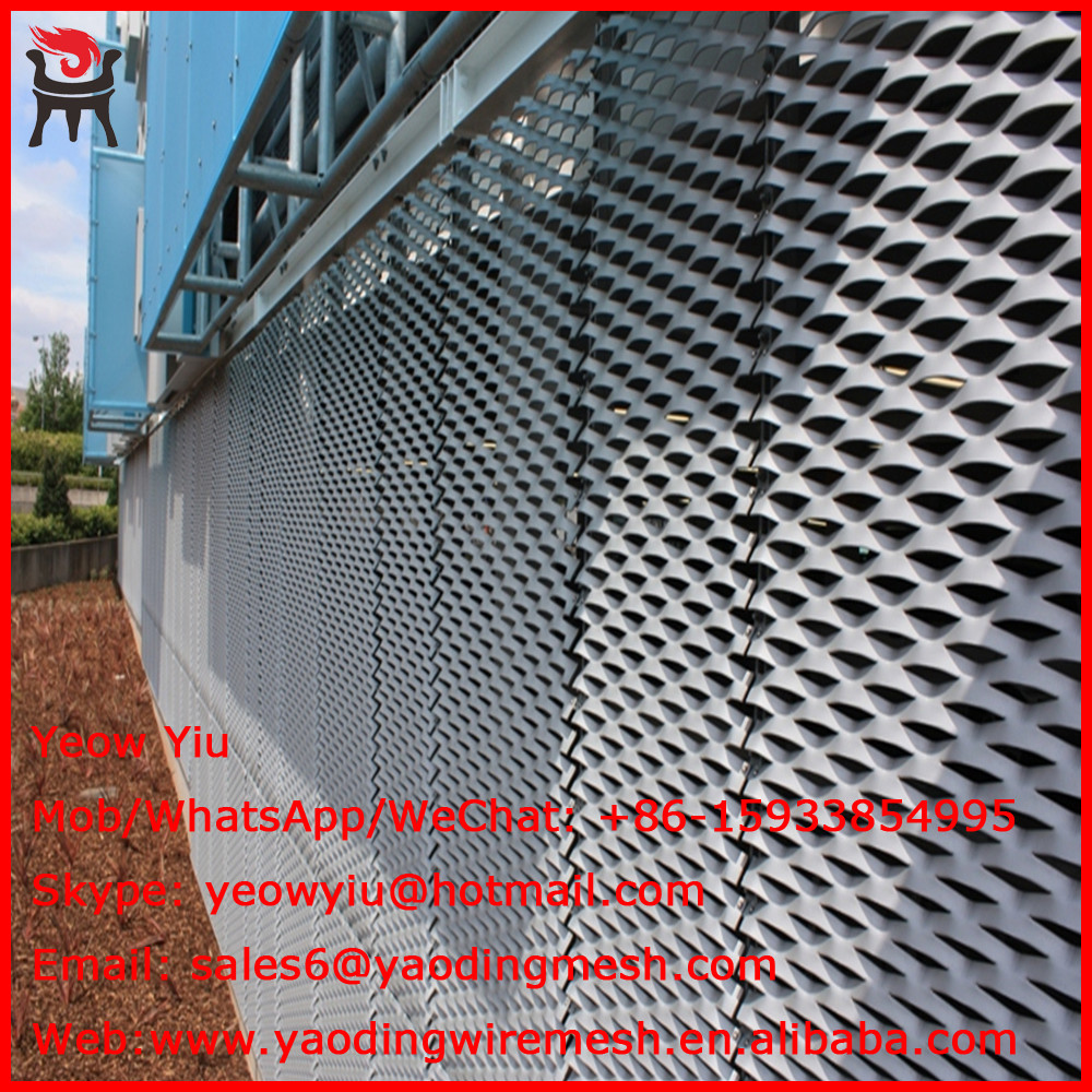 Professional cheaper big hole aluminum punch mesh sheet for wall 's Facade cladding