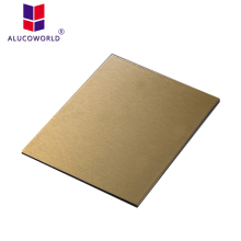 Alucoworld wall cladding pvdf golden mirror aluminum composite panel