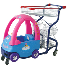 Supermarket kids toy shopping trolley high quality