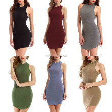 Women's Strap Mid-calf Length Party Dresses Solid Prom Custom Bodycon / Bandage Dress Factory