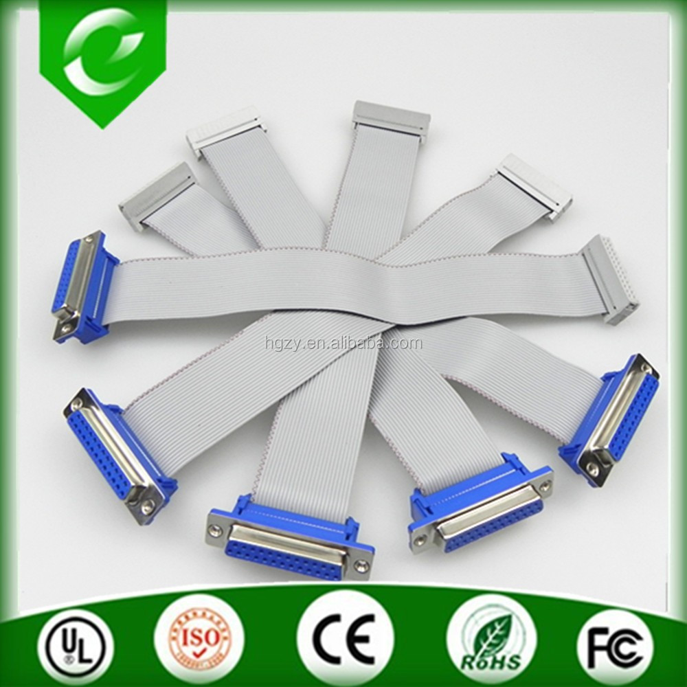 HOT SALE IDC and DB25 flat ribbon cable assembly with high quality and fast delivery