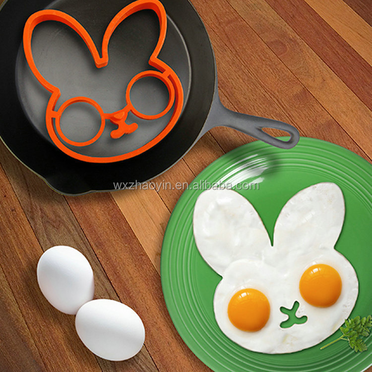 Kitchen gadgets nonstick silicone fried egg mold