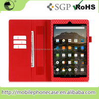 leather case for kindle fire wallet case tablet with strap