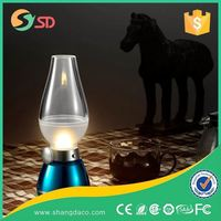 Factory price 3 Leds plastic usb desk lamp, Portable USB Camping Lamp Rechargeable Lantern night light blowing ON/OFF switch