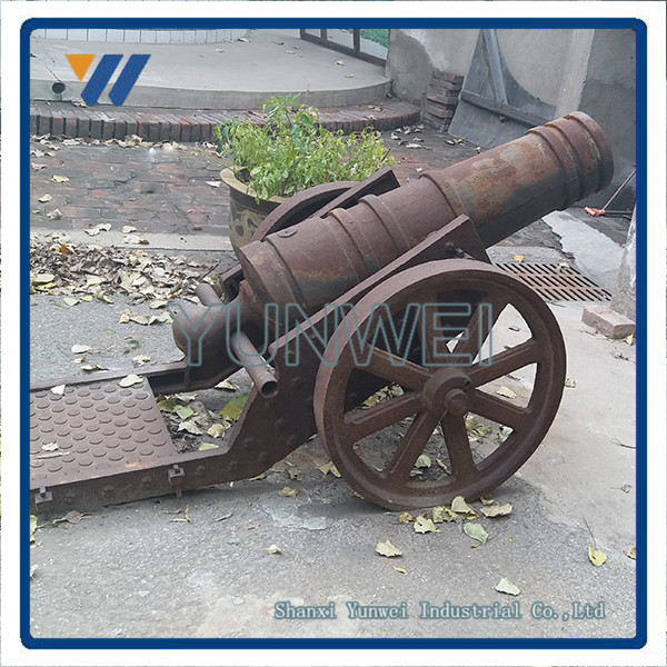 New Style Rustic Cast iron decorative cannon