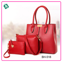 3 pcs bag sets brand women 2016 trendy shoulder handbag sets