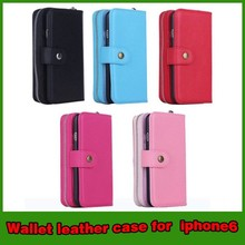 New arrival separate lichee pattern wallet leather pouch case for iphone 6