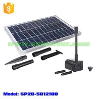 Solar dry run protected pond pump kit with 2m head 1.4CBM/H flow rate (SP20-501210D)