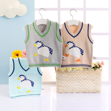 PHB50201 cheap price fashion boys sweater vest baby woolen clothes
