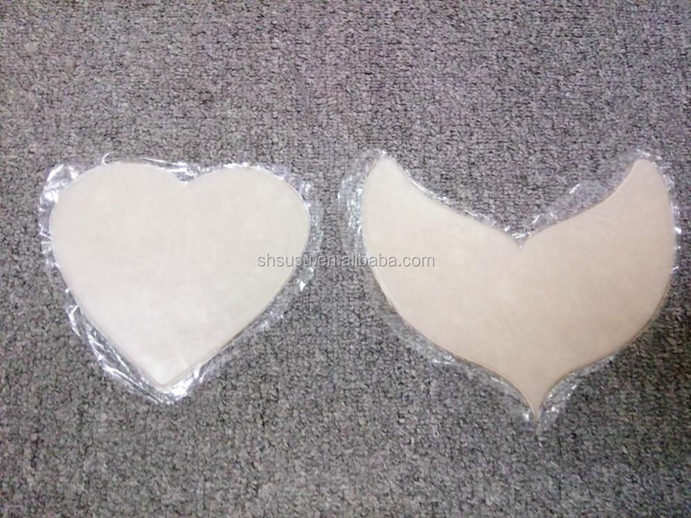 self setting sticky silicone chest pad for both women and men anti-aging