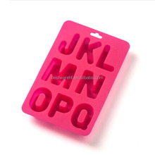 Fancy silicone ice cube tray with alphabet letter A to I shaped