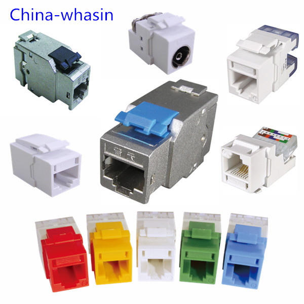 ISO/IEC11801 TIA/EIA568 high quality shielded/unshielded Cat6e Cat6 Cat5e RJ45 Modular Jack 8p8c Keystone Jack/RJ11 CATV modular