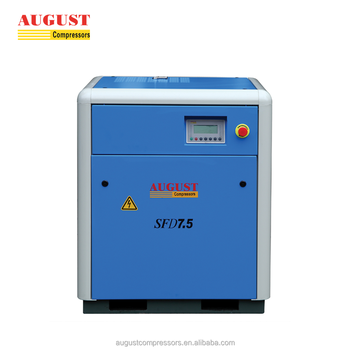 SFD7.5D 7.5KW/10HP 8 bar AUGUST stationary air cooled screw air compressor industrial air compressor