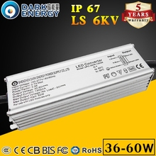 Street lamp waterproof led driver 36w 40w 50w 60w 30v-50v power supply