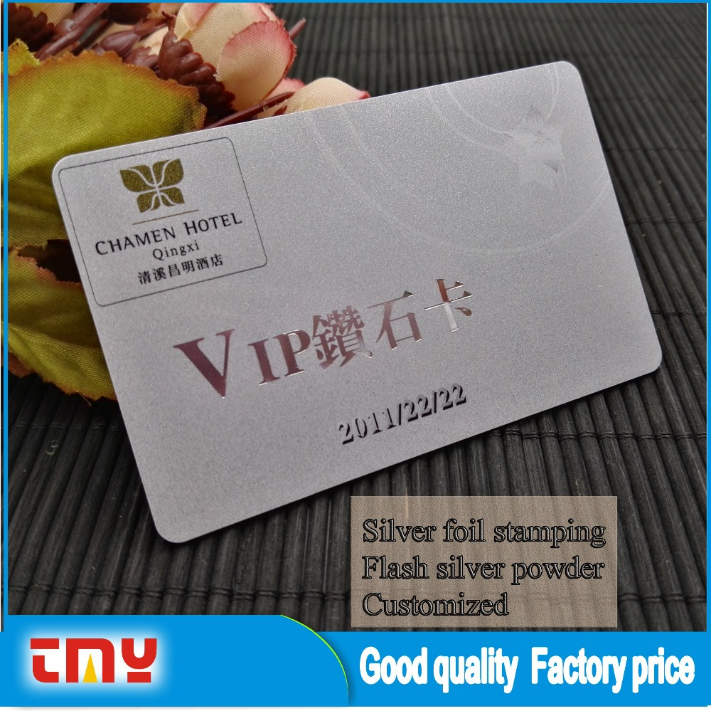 Factory Price Hot Foil Stamping Business Card With Sliver