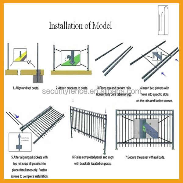 China Alibaba Supplier Wholesale Best Quality Galvanized Steel Fence