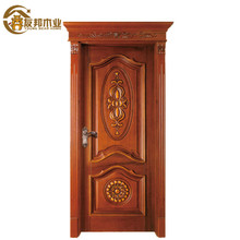 Latest OEM Egypt beautiful house living room design indian front single wood door