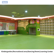 Recycled PVC Sports Flooring for Kindergaten Uesd
