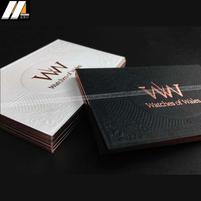 Professional Production Superior Quality Rose Gold Foil Luxury Print Business Card