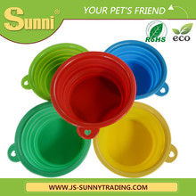 Lovely animal shaped pet silicone collapsible pet bowls