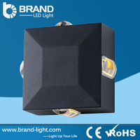 Waterproof IP65 Outdoor 2X6X1W Wall Switch With LED Indicator Light